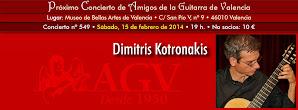 Concierto de AGV: Dimitris Kotronakis. 15 de febrero 2014