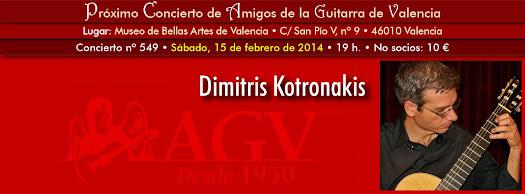 Dimitris Kotronakis en concierto de Amigos de la Guitarra de Valencia
