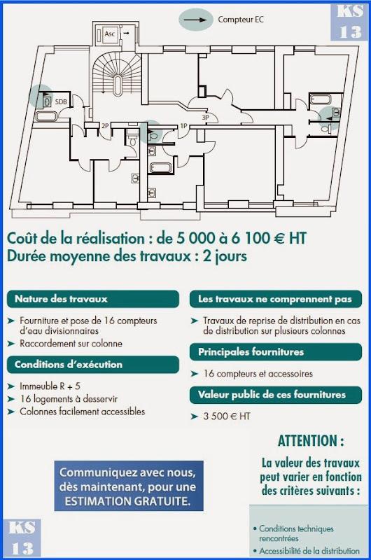 Ks services 13 co t immeubles collectifs travaux installation de compteu - Cout installation compteur gaz ...