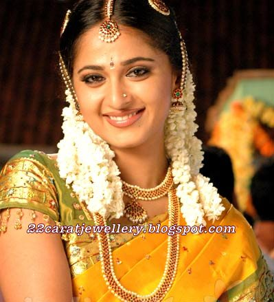 Tollywood Actress Hka With Designer Bridal Necklace Haram Longchain Nose Pin Earrings And Bangles