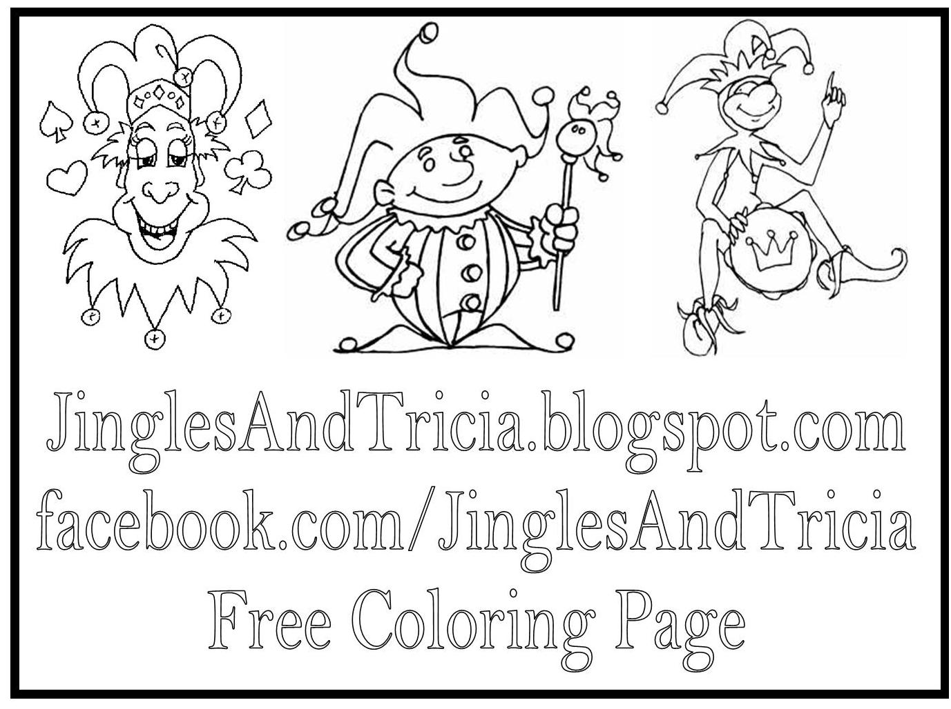 free coloring pages of jesters - photo#29