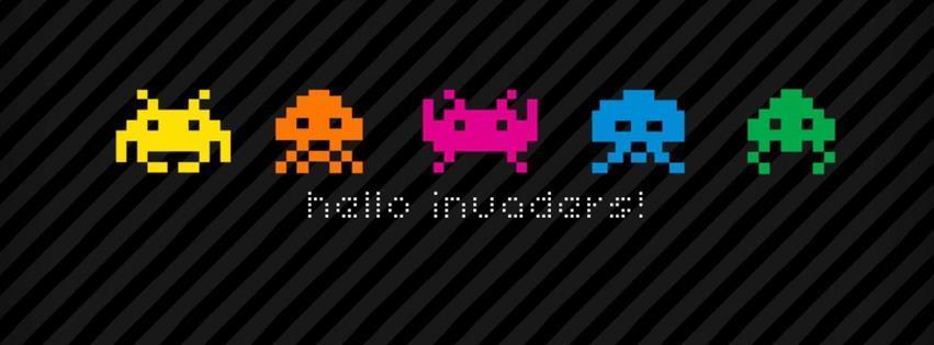Atari invaders karakterleri facebook kapak fotoğrafı