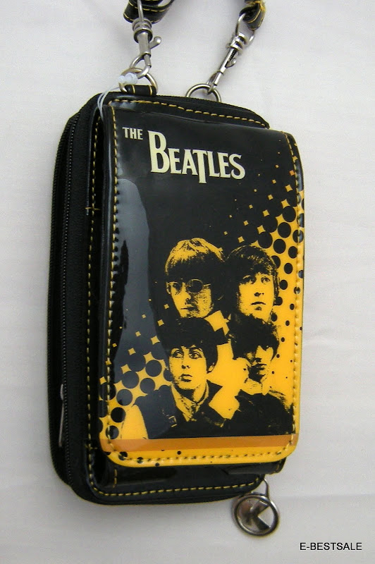 Wallet beatles cell phone holder coins credit cards man for Coin arredamento