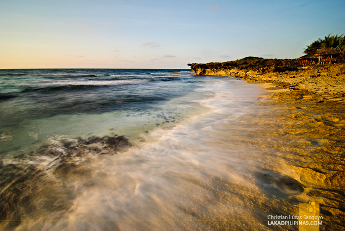 Sunset at Bolinao's Patar Rock Formation