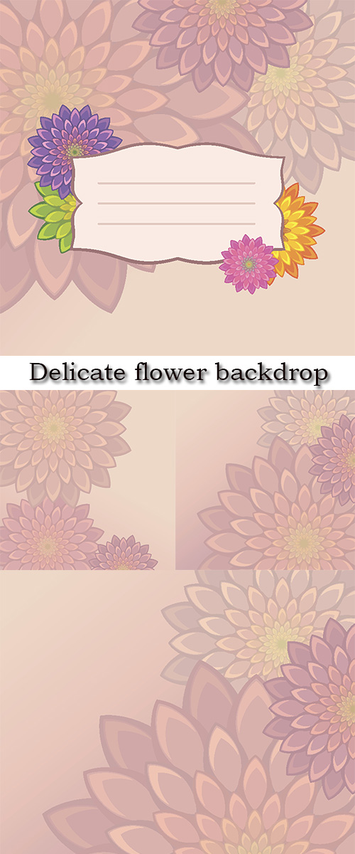 Stock: Delicate flower backdrop