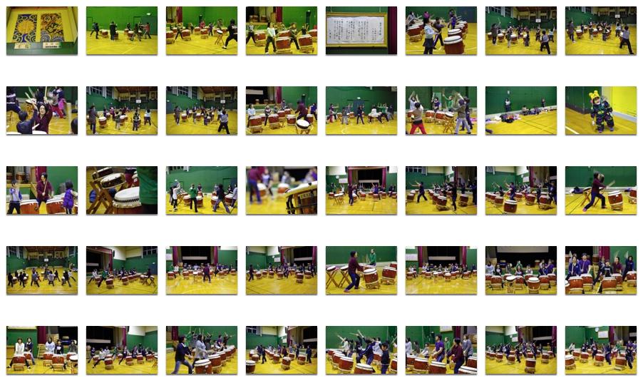 北竜太鼓練習風景 2012