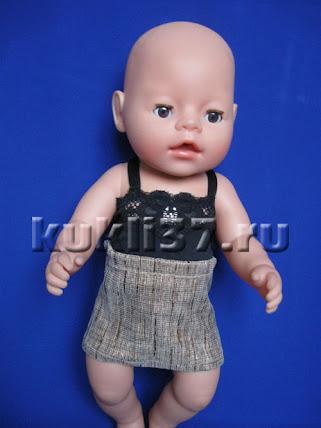 юбка для куклы на резинке