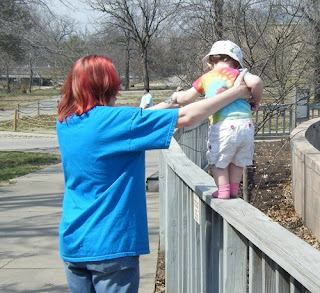 Walking the Fence at the Tulsa Zoo