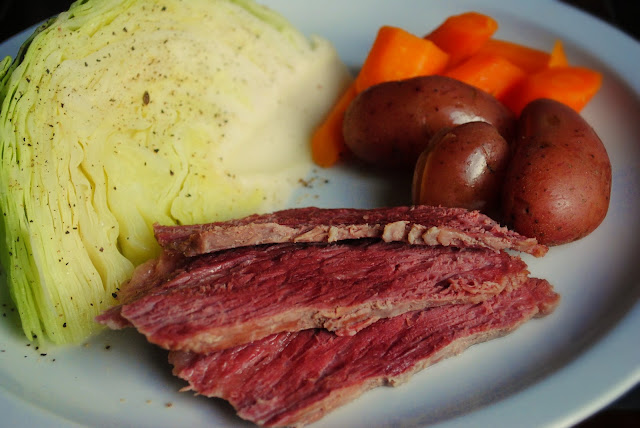 Corned Beef Brisket with Boiled Vegetables l SimplyScratch.com