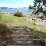 Steps leading down to Greens (aka Laings) Point (256088)