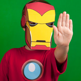 Free Printable Iron Man Mask for an Iron Man 3 Party