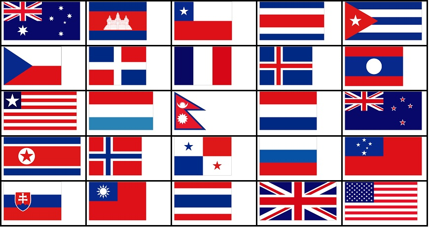 Red, White, and Blue Flags Quiz - By DelGue