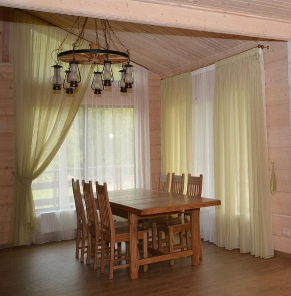 шторы в стиле кантри