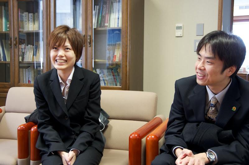 左:岡田祐美さん  右:中井啓介さん