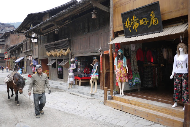 Touristy street in Xijiang