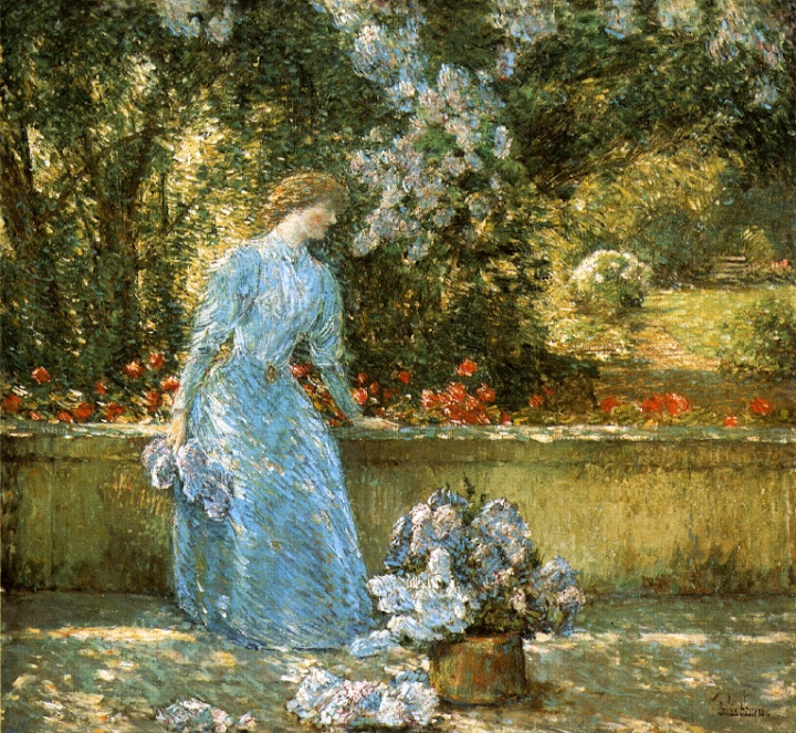 Childe Hassam - Lady in the Park