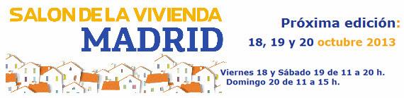 El Salón de la Vivienda de Madrid se celebrará del 18 al 20 de octubre de 2013