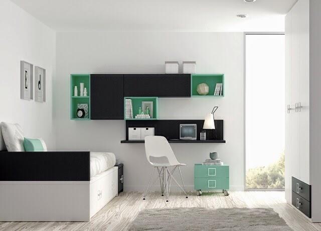 Tipos de camas para dormitorios juveniles for Habitaciones compactas