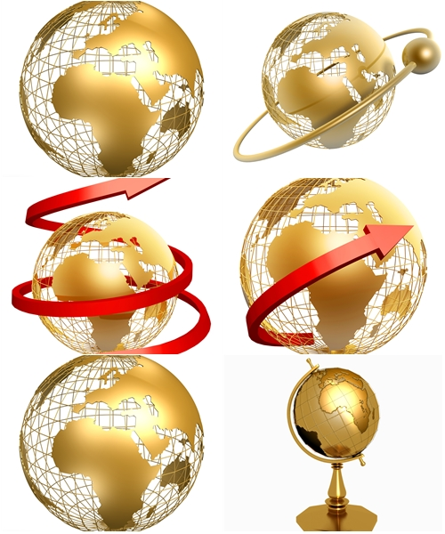 Stock Photo: The gold globe