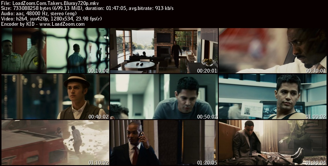 movie screenshot of Takers fdmovie.com