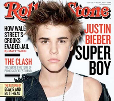 Justin Bieber portada de la revista Rolling Stone