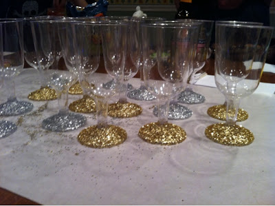 Miss Mel Miss Heather Diy Glitter Champagne Flutes