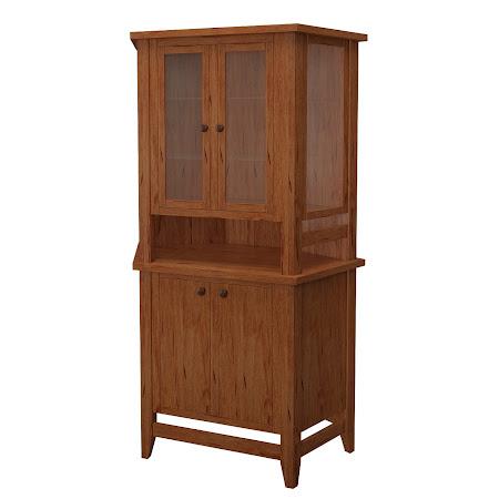 Venice Corner Cabinet in Vermont Maple