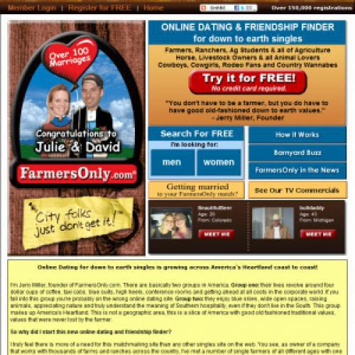 farmers only dating login Last week, i saw on tv for the first time an ad for this farmers only dating site, accompanied by the slogan, because city folks just don't get it.