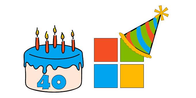 Microsoft celebrates 40th birthday