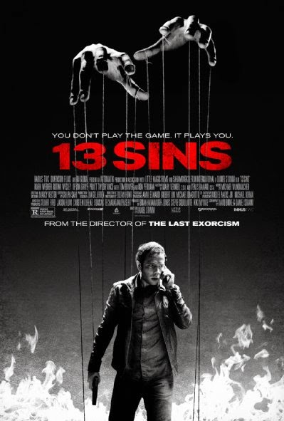 Poster Of English Movie 13 Sins (2014) Free Download Full New Hollywood Movie Watch Online At alldownloads4u.com
