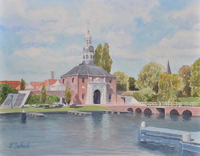 Zijlpoort Leiden http://www.watercolours.nl/