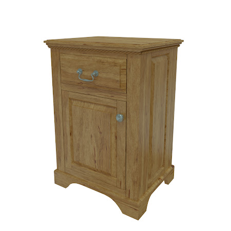 Matching Furniture Piece: Hudson Nightstand with Door, Classical Maple