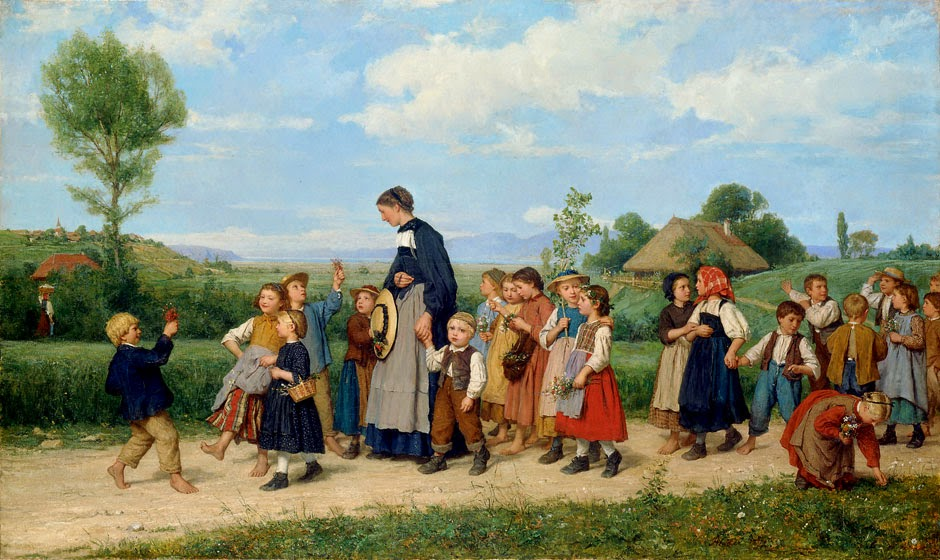 Albert Anker - School Walk (1885)