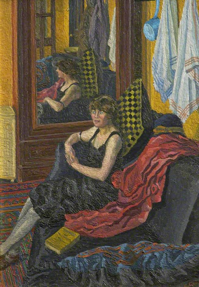 Charles Ginner - The French Novel (The Mirror)