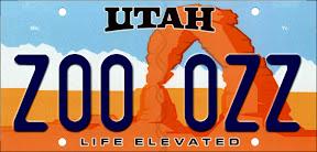 Utah Passenger License Plate