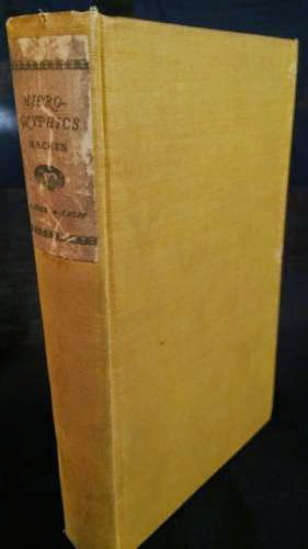 1923 Arthur Machen Hieroglyphics Lovecraft Related Occult Macabre Fantasy By Hermeticwisdom
