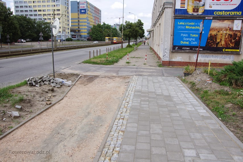 Póki co droga dla rowerów powstanie jedynie do tego momentu - daje budowana będzie po zakończeniu centrum sportu Politechniki Łódzkiej.