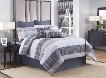croscill home fairfax king comforter set blue bedding sets best deals. Black Bedroom Furniture Sets. Home Design Ideas