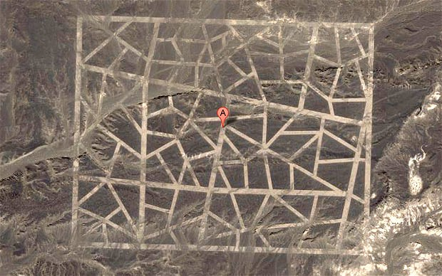 Unidentified Structures in Gobi Desert