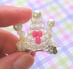Beaded Crown Barrette