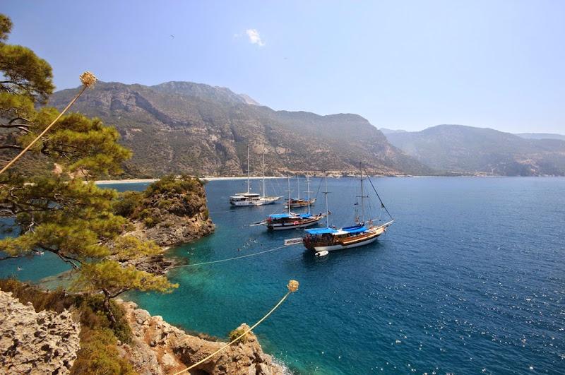 Moored at St Nicholas Island, Turkey