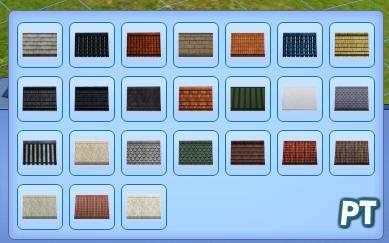 Sims 3 overzicht dakpatronen