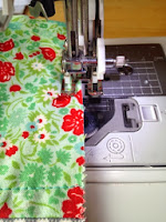 Sew a 1/8'' seam around all edges