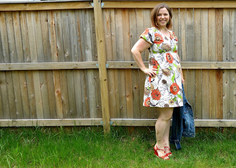 Made with Moxie: Washi dress pattern with peasant sleeves.