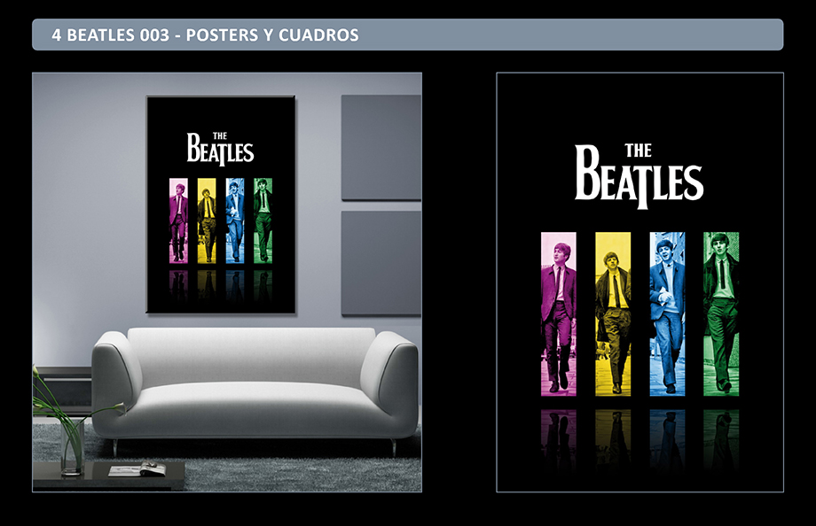 The Beatles Posters Adhesivos Gigantes - Cuadros The Beatles Richard Avedon - Arteygraficadigital