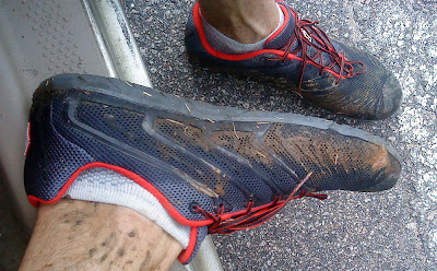 Inov-8 Bare-X 180 after a muddy run