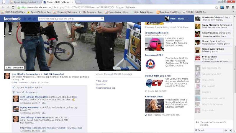 Agan / Sista yg baik hati, Tolong bantu like FOTO di FB ya :)