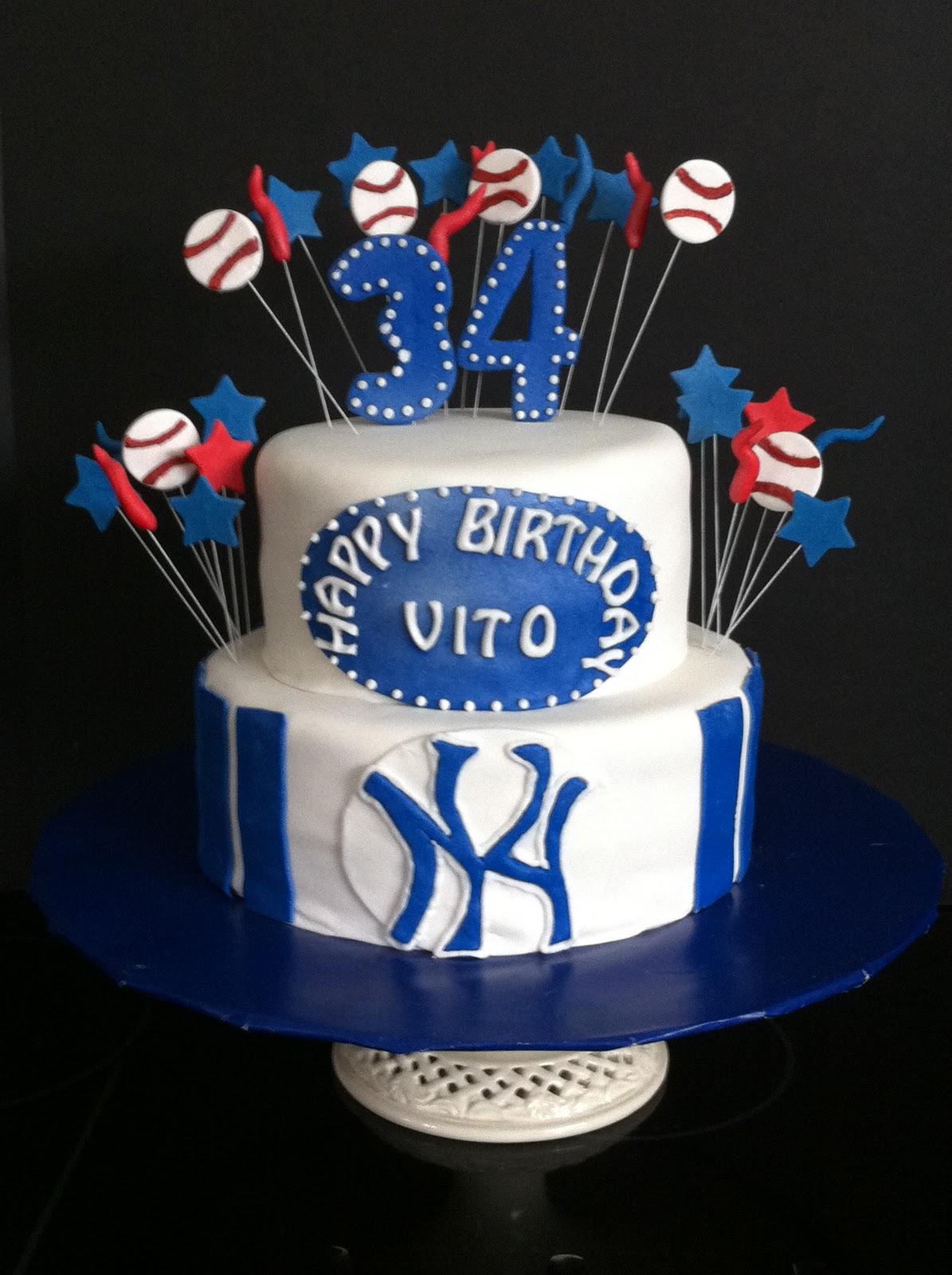 Enjoyable New York Yankees Cake My Sweet Zepol Funny Birthday Cards Online Benoljebrpdamsfinfo