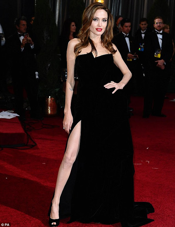 Angelina - Black Dress at Red Carpet