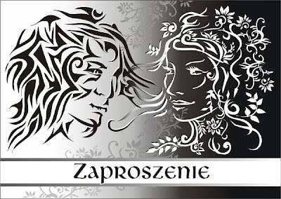 Zaproszenie ślubne wzór projekt własny wykonanie Amigraf Marzena Ostrowska Panorama LeSage Anna Grabowska